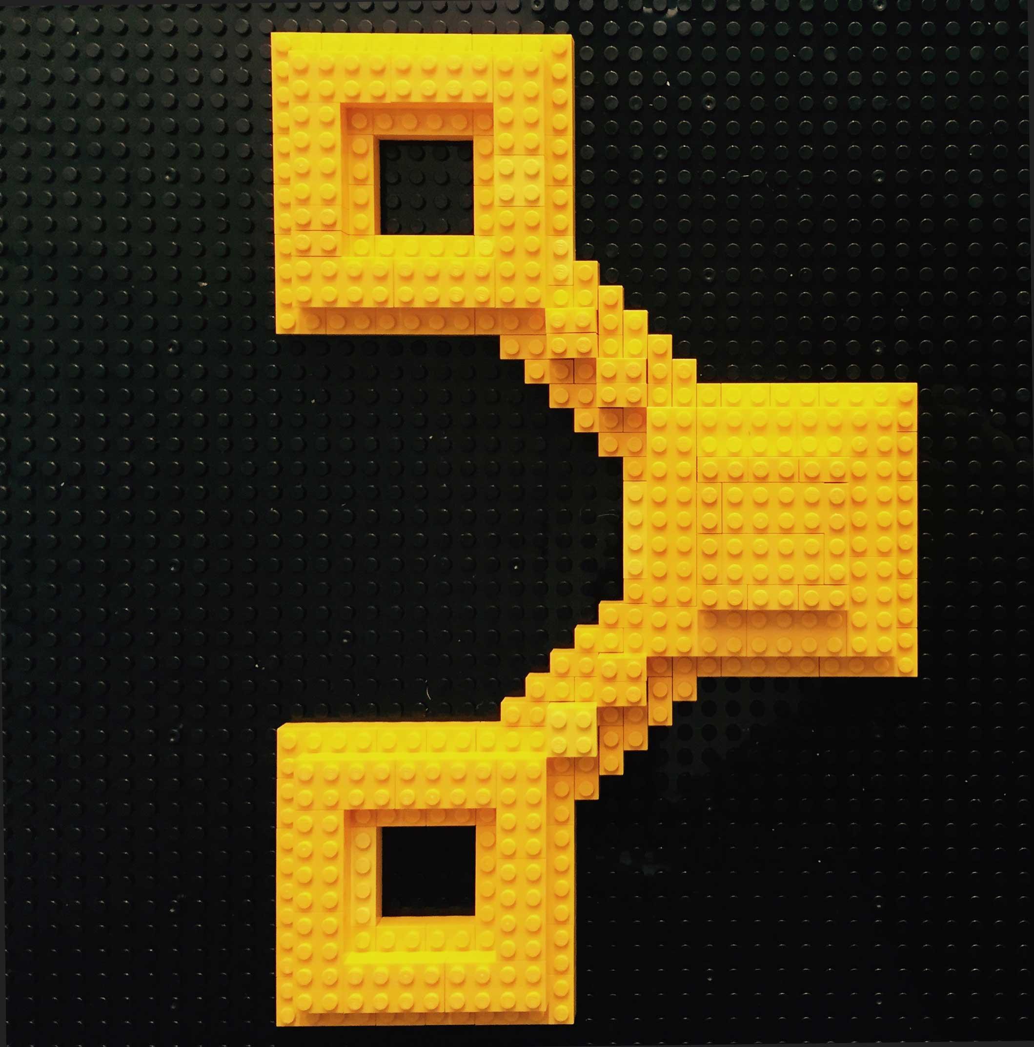 lego logo puppet