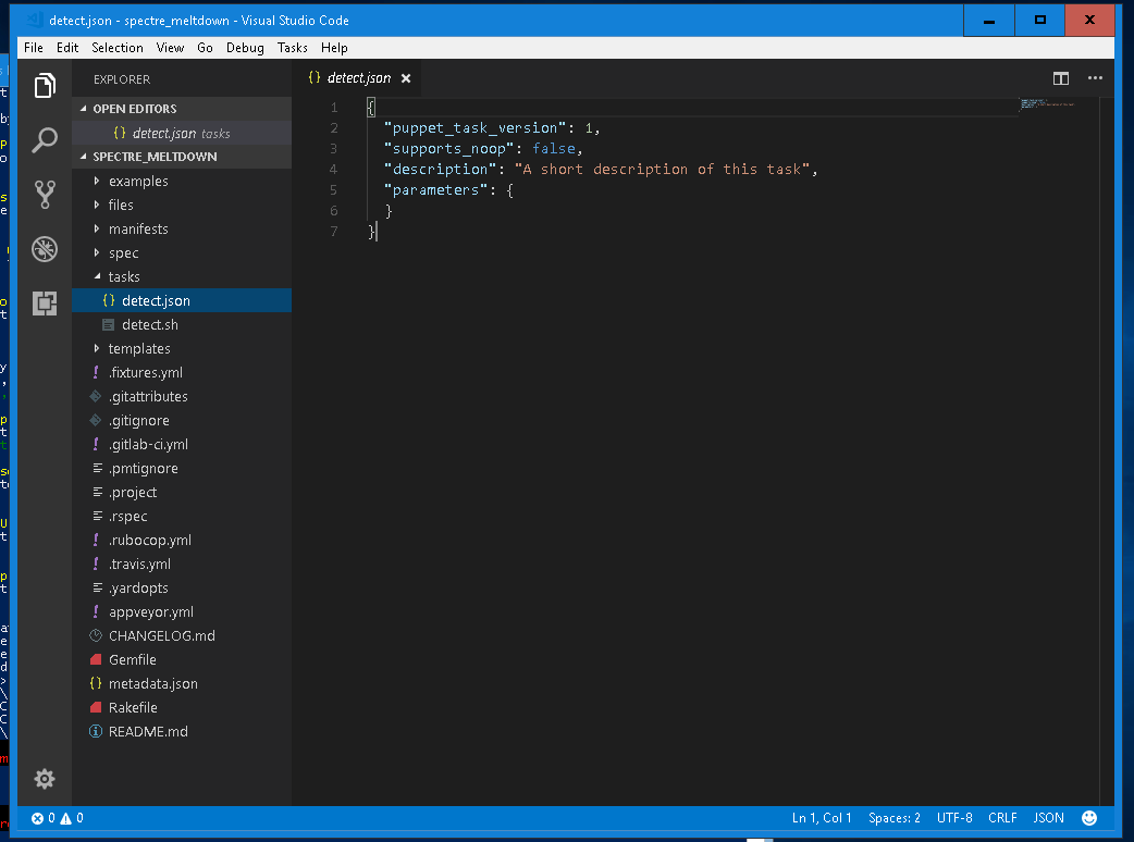 vs code puppet task view