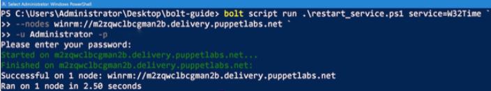 bolt command to bring script under bolt control