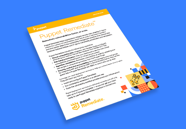 puppet remediate solution brief card