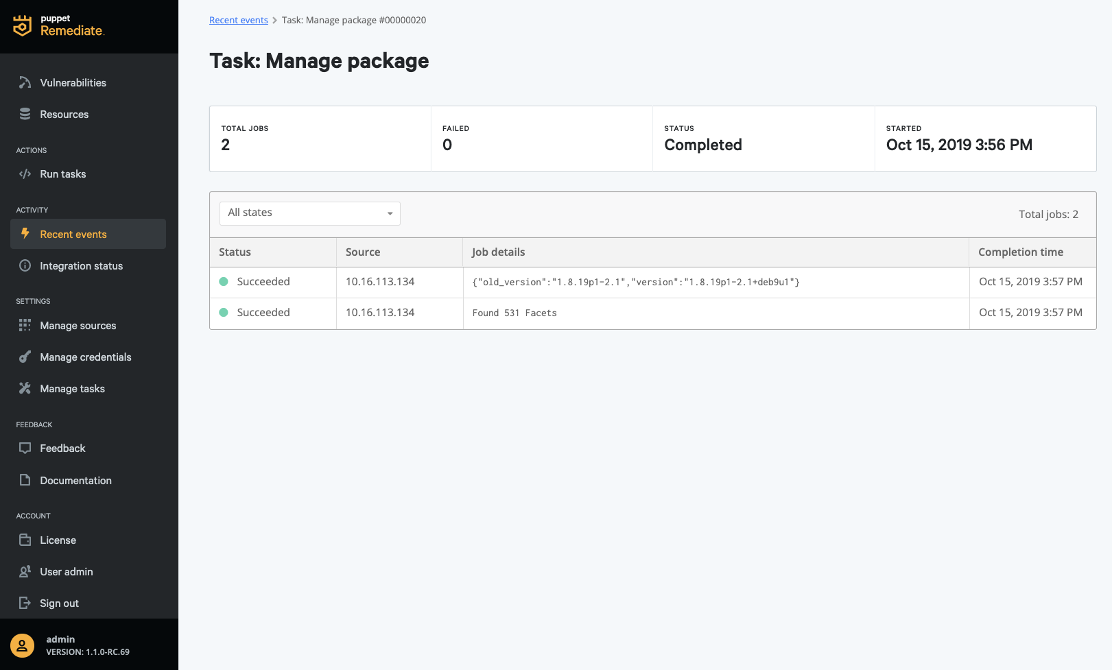 tasks manage package