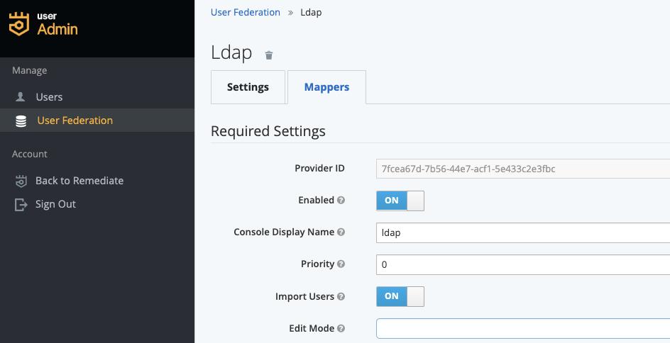 enable ldap integration puppet remediate