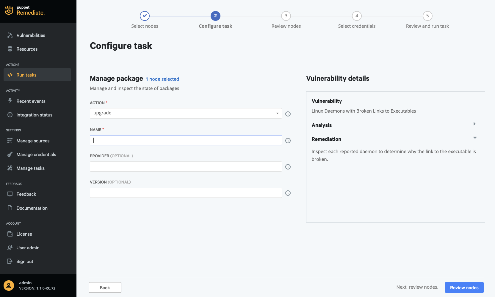 improved task workflow puppet remediate
