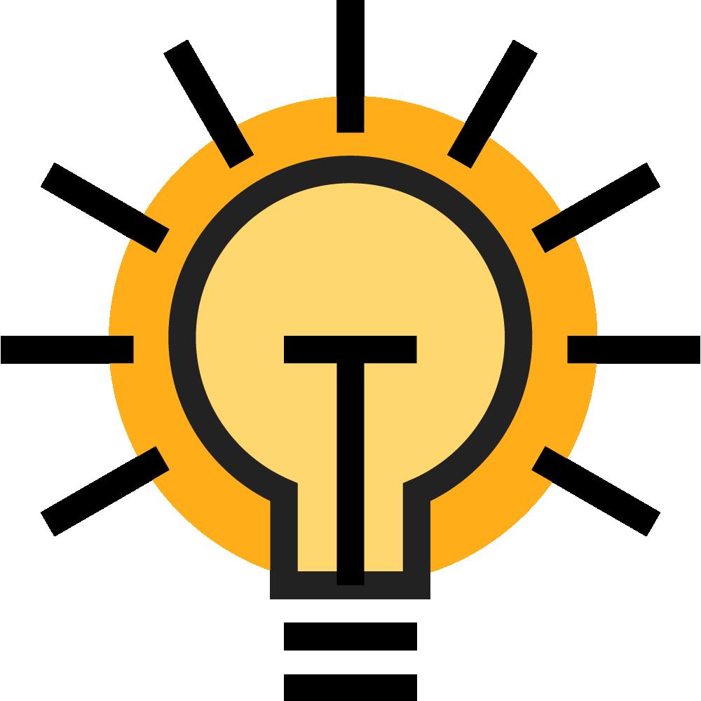 puppet icon lightbulb A innovation idea k