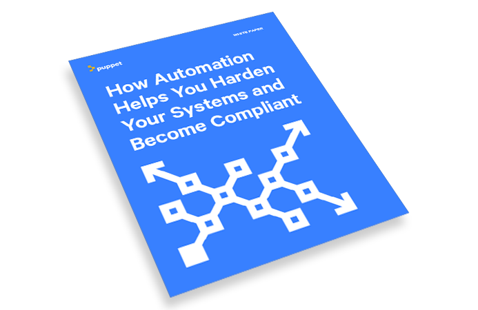 puppet whitepaper how automation helps you harden your systems and become compliant land