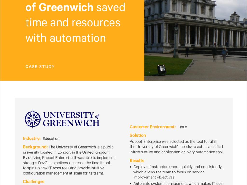 puppet case study university of greenwich land