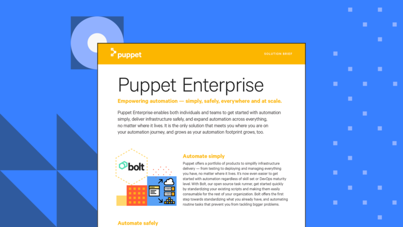 puppet enterprise solution brief Card