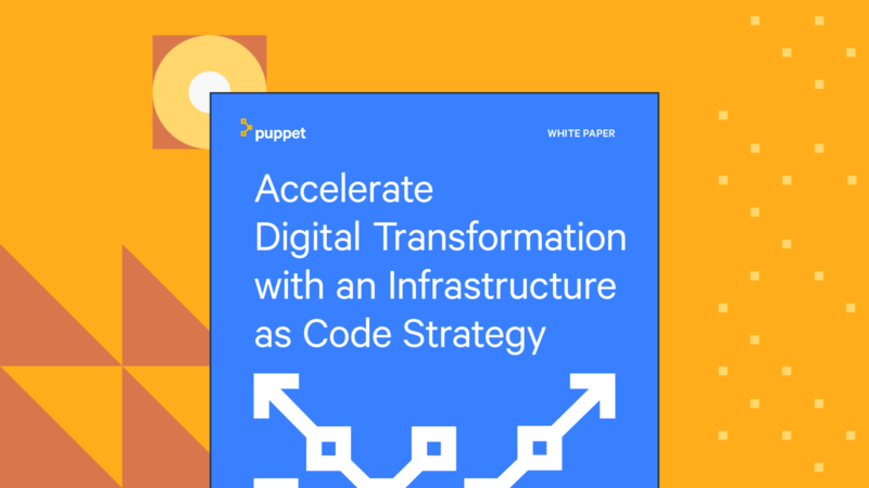 puppet Accelerate Digital Transformation with an Infrastructure as Code Strategy whitepaper Card