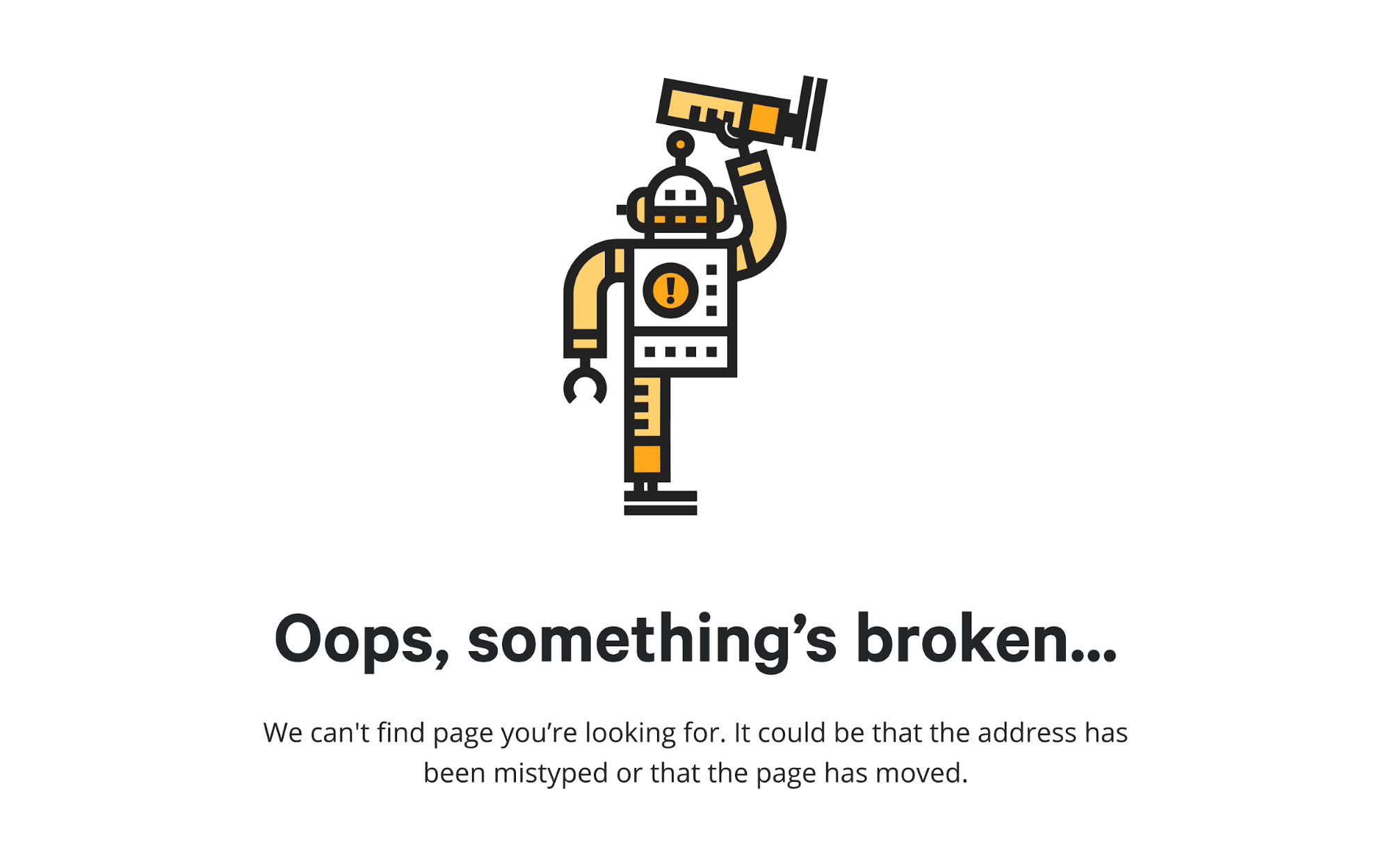 Quirky error page design