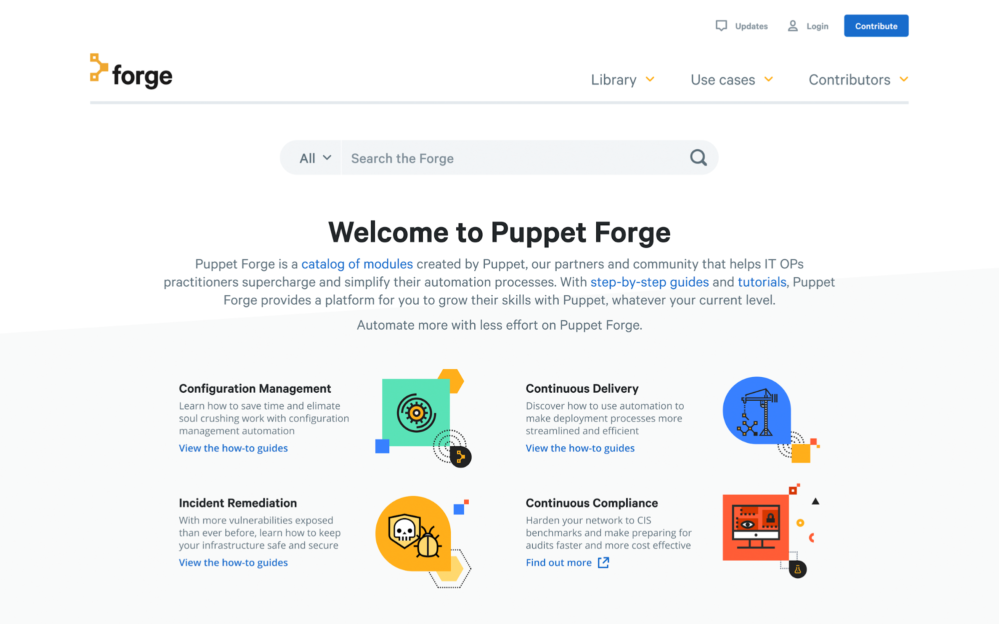 Information hierarchy on Puppet Forge