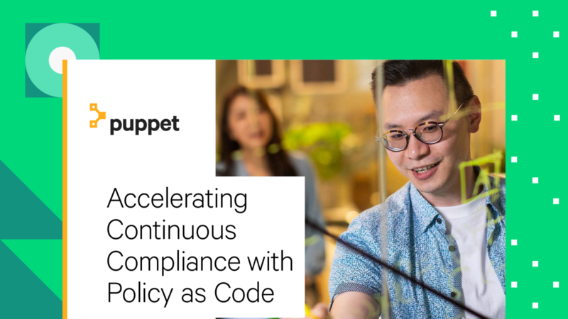 puppet Accelerating Continuous Compliance with Policy as Code ebook Card