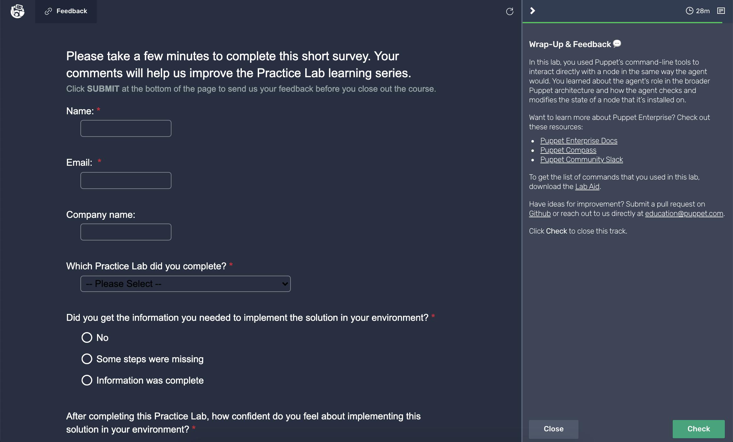 Survey Challenge Page